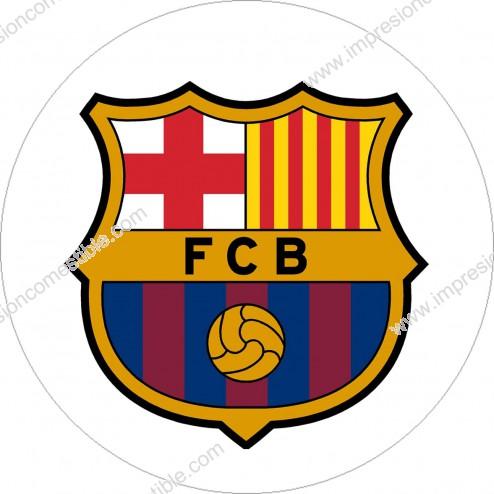 Impresión Comestible de Tarta Escudo Fc Barcelona - Barça