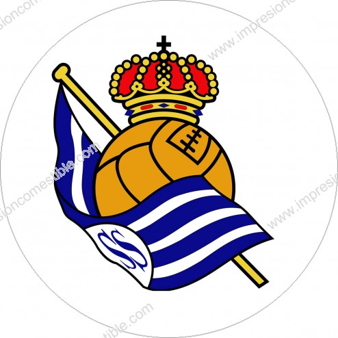 Impresión Comestible de Tarta Escudo Real Sociedad