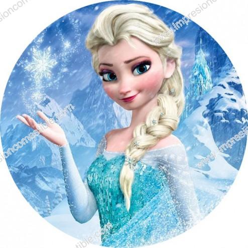 Oblea Elsa Frozen