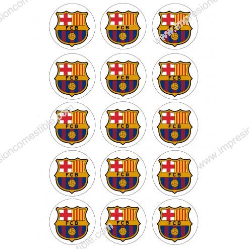 Impresión Comestible de Galletas Escudo Fc Barcelona - Barça