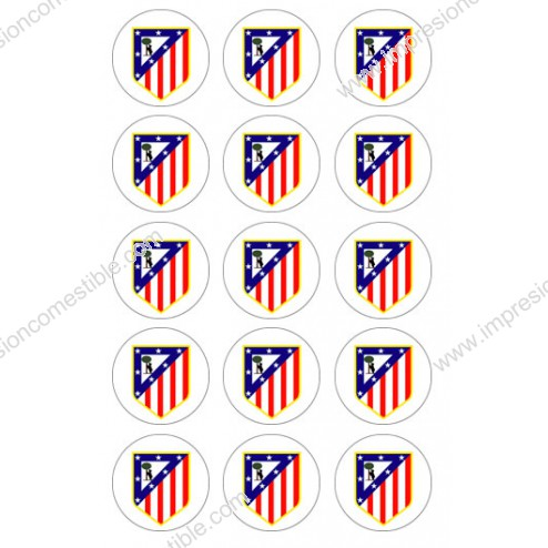 Oblea de Galletas Atletico de Madrid