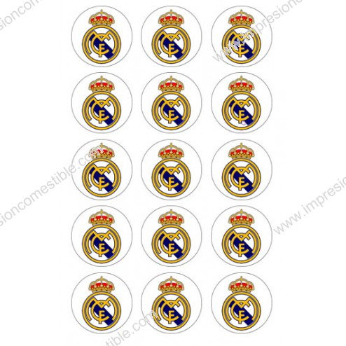 Obleas para Galletas Real Madrid