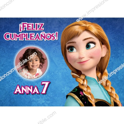 Oblea Anna Frozen Montaje con Foto - Dina4