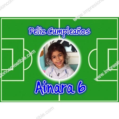 Oblea Campo de Futbol Montaje con Foto - Dina4