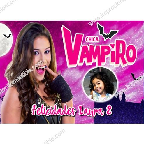 Oblea Chica Vampiro Montaje con Foto - Dina4