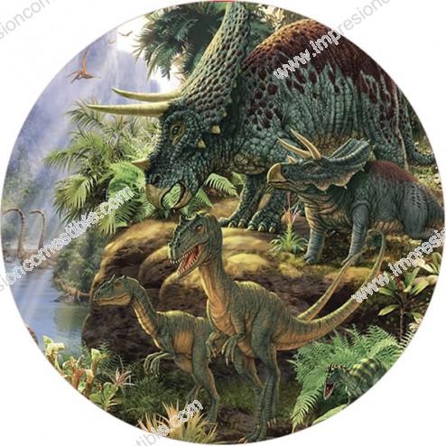 Oblea de Dinosaurios