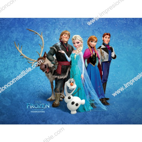 Oblea Frozen Personajes Rectangular -  A4