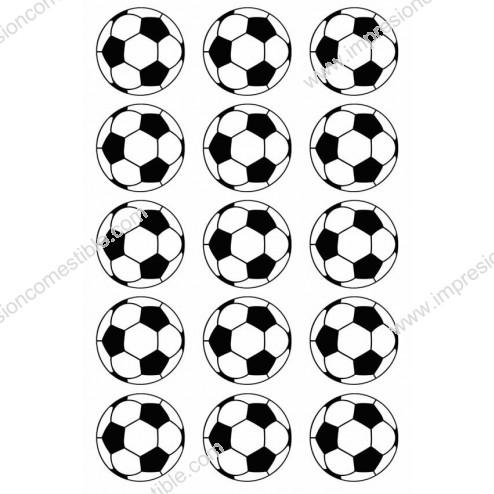 Oblea para Galletas de Balon de Futbol