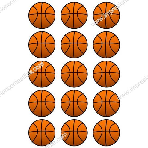 Oblea para Galletas de Balon de Baloncesto