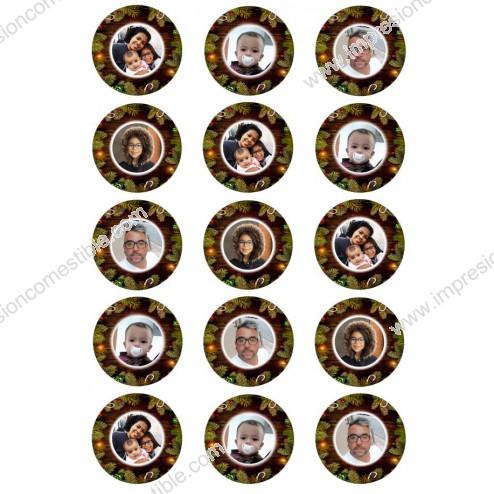 Oblea Galletas Navidad Personalizada con Foto nº3
