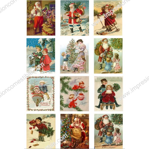Oblea Galletas Navidad Vintage nº1