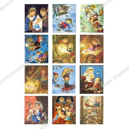 Oblea Galletas Navidad Vintage nº2