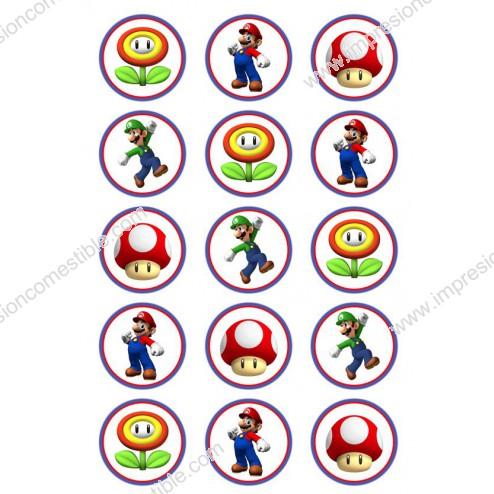 Oblea para Galletas de Super Mario Bros