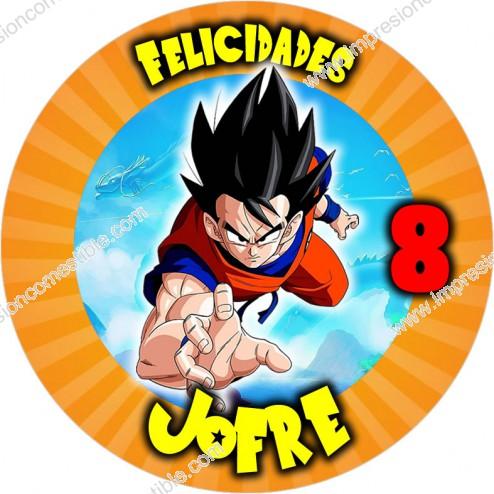 Oblea Goku Dragon Ball Personalizada