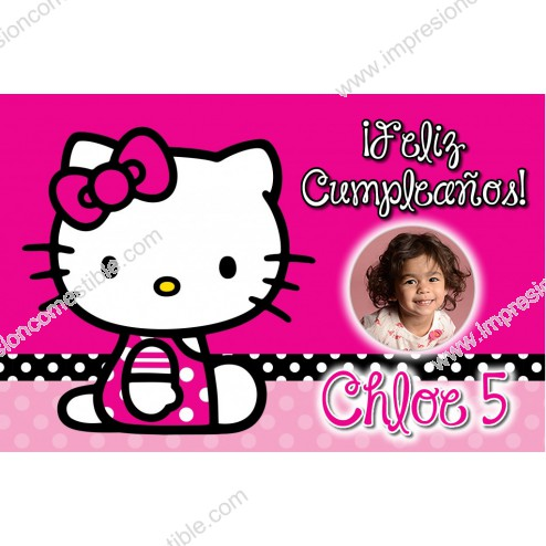 Oblea Hello Kitty Montaje con Foto - Dina4
