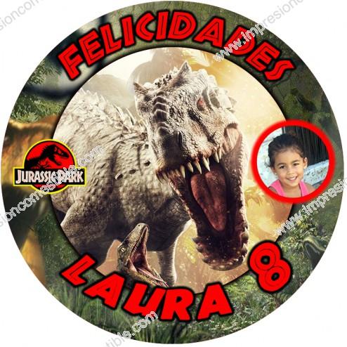 Oblea Jurassic Park con Foto - Redondo
