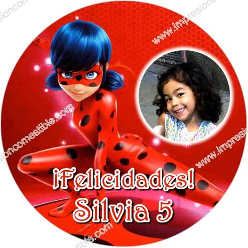 Oblea LadyBug con Foto - Redondo