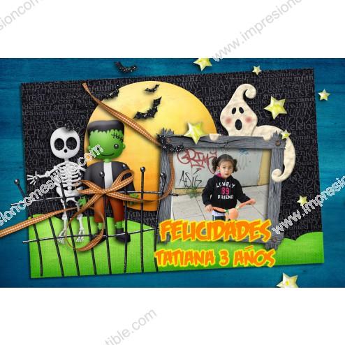 Oblea Halloween Montaje con Foto - Dina4