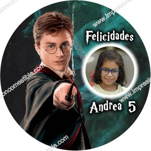 Oblea Harry Potter con Foto - Redondo
