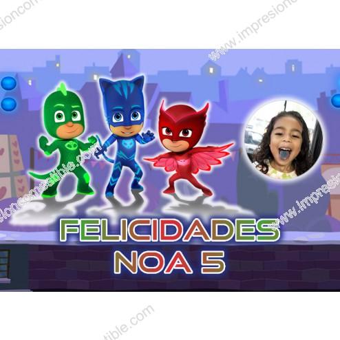 Oblea PJ Masks Montaje con Foto - Dina4