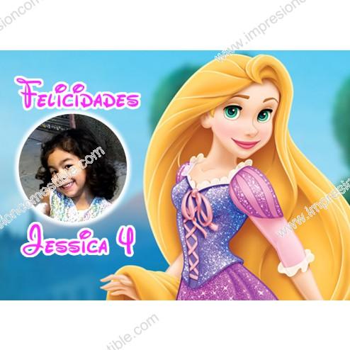 Oblea Rapunzel Montaje con Foto - Dina4