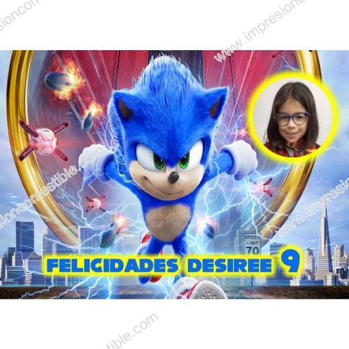 Oblea Sonic Montaje con Foto - Dina4