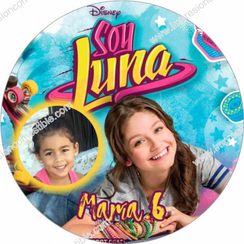 Oblea Soy Luna Montaje con Foto - Redondo