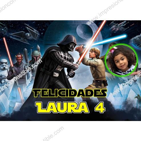 Oblea Star Wars con Foto - Dina4