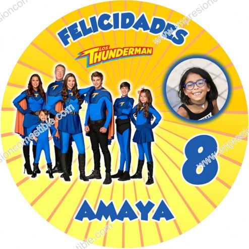 Oblea Thundermans con Foto - Redondo