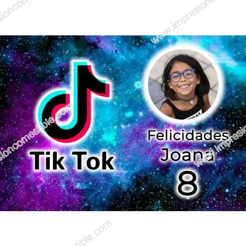 Oblea Tik Tok Montaje con Foto - Dina4