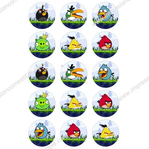 Oblea de Galletas Angry Birds