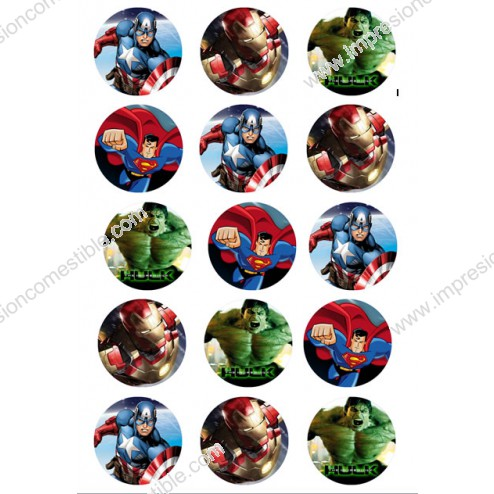 Oblea Galletas Super Heroes