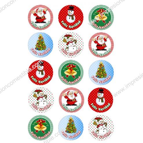 Oblea Galletas Navidad nº1