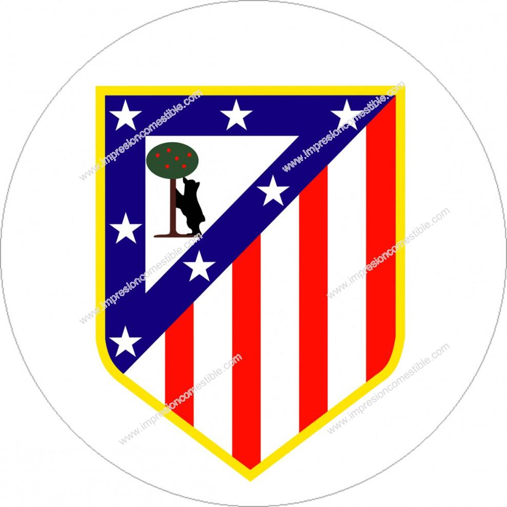 Impresión Comestible de Tarta Escudo Atletico de Madrid b16c45f556d54