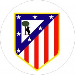 Impresión Comestible de Tarta Escudo Atletico de Madrid