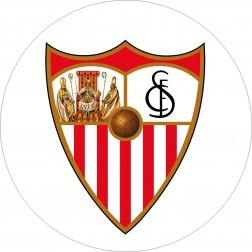Impresión Comestible de Tarta Escudo Sevilla FC