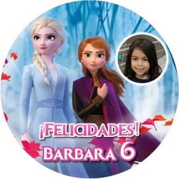 Oblea Frozen 2 con Foto - Redondo