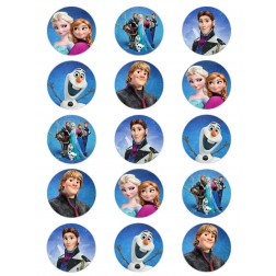 Oblea Galletas Frozen Personajes
