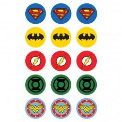 Oblea para Galletas de Logo Super Heroes