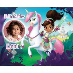 Oblea Nella Princesa Valiente Montaje con Foto - Dina4