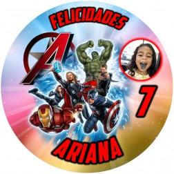 Oblea The Avengers con Foto - Redondo