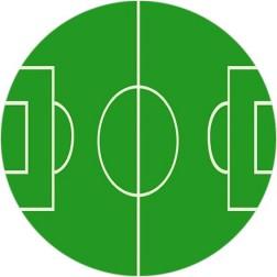 Oblea de Campo de Futbol Redondo