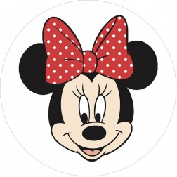 Oblea Cara Minnie Mouse Roja