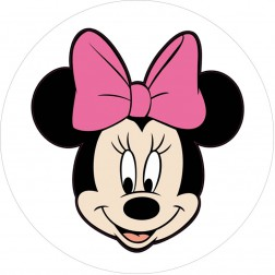 Oblea Cara Minnie Mouse Rosa