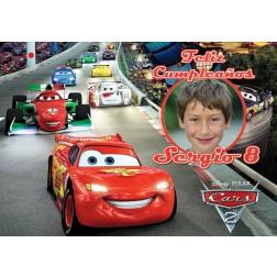 Oblea Cars Rayo Rayo McQueen Montaje con Foto - Dina4