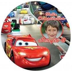 Oblea Cars Rayo McQueen Montaje con Foto - Redondo