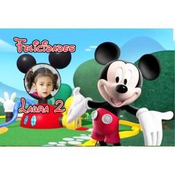 Oblea Casa de Mickey Rectangular -  A4