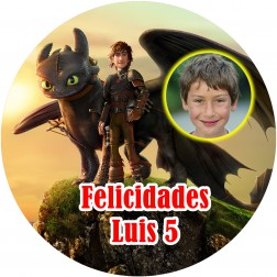 Oblea Como Entrenar a tu Dragon con Foto - Redondo