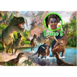 Oblea Dinosaurios Montaje con Foto - Dina4