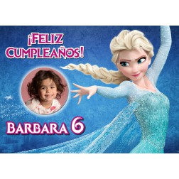 Oblea Elsa Frozen Montaje con Foto - Dina4